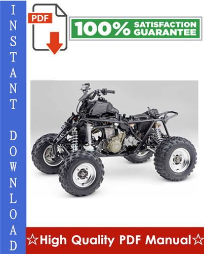 Thumbnail Honda TRX700XX Workshop Service Repair Manual 2008-2009 Download