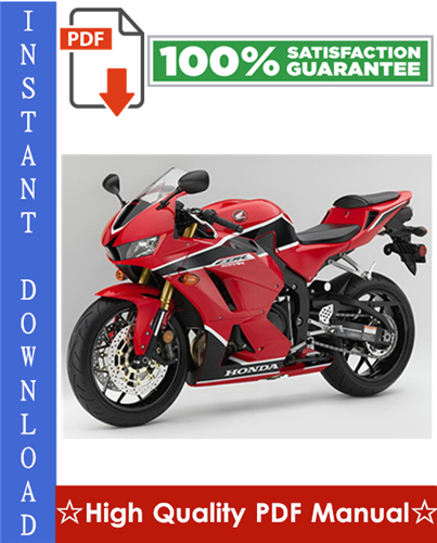 Thumbnail Honda CBR600RR Motorcycle Workshop Service Repair Manual 2003-2006 Download