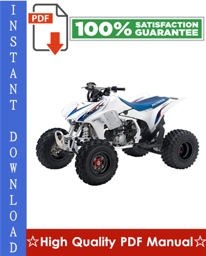 Thumbnail Honda TRX450R Workshop Service Repair Manual 2004-2005 Download