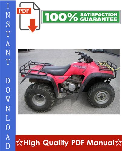 Thumbnail Honda TRX300 FOURTRAX / TRX300FW FOURTRAX 4x4 ATV Workshop Service Repair Manual 1988-1994 Download