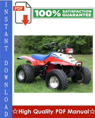 Thumbnail Honda TRX200SX Fourtrax ATV Workshop Service Repair Manual 1986-1988 Download