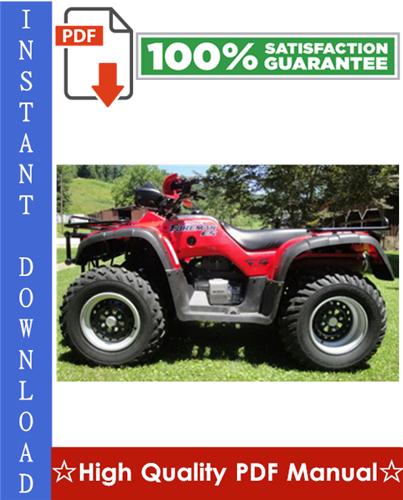 Thumbnail Honda TRX450S / TRX450ES Fourtrax Foreman ATV Workshop Service Repair Manual 1998-2001 Download