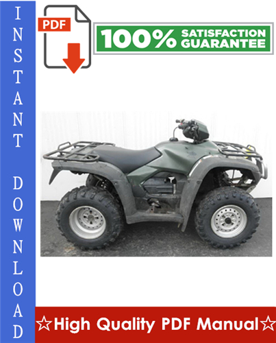 Thumbnail 2012 Honda TRX500FM / TRX500FPM / TRX500FE / TRX500FPE Fourtrax Foreman ATV Workshop Service Repair Manual