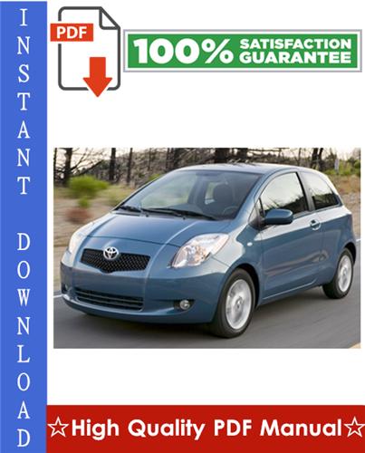 toyota yaris 2007 service manual