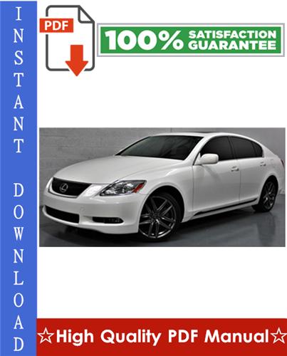 Thumbnail Lexus GS300 / GS430 Workshop Service Repair Manual 1998-2005 Download