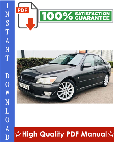 Thumbnail Lexus IS200 Workshop Service Repair Manual 1998-2005 Download