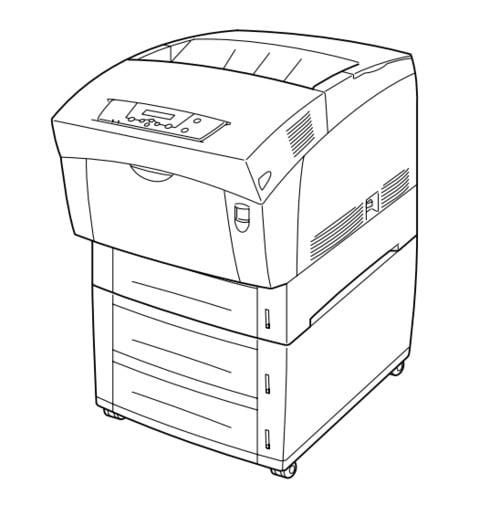 fuji xerox docuprint c1618 electro-photographic laser color printer service repair manual