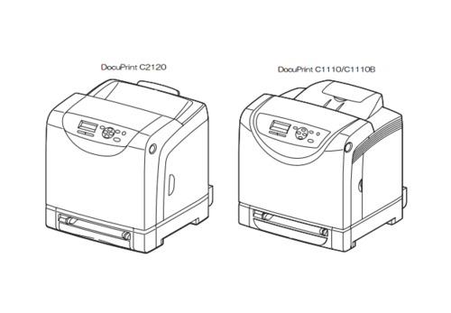 Fuji Xerox Docuprint C2120 C1110 C1110b Color Laser border=