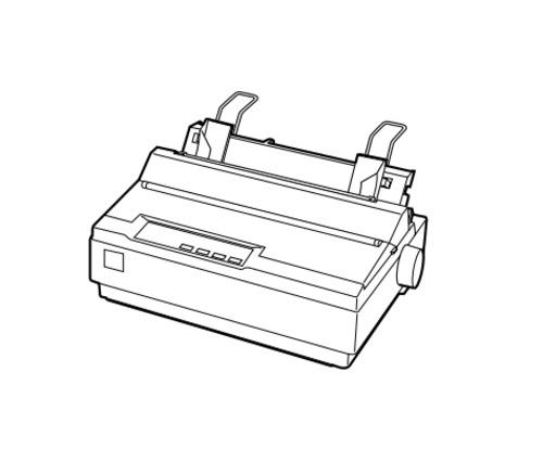 epson lx 300 9 pin serial impact dot matrix printer service repair manual