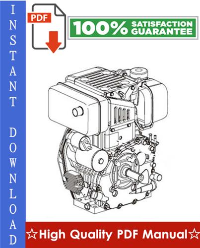 YANMAR INDUSTRIAL DIESEL ENGINE (MODEL 4TNE94, 4TNE98, 4TNE106T) Workshop  Service Repair Manual