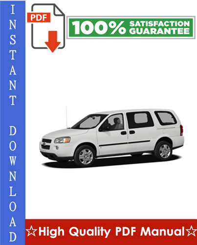 Pay for Chevy Chevrolet Uplander Workshop Service Repair Manual 2005-2008 Download