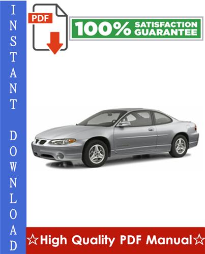 Pay for Pontiac Grand Prix Workshop Service Repair Manual 1997-2003 Download