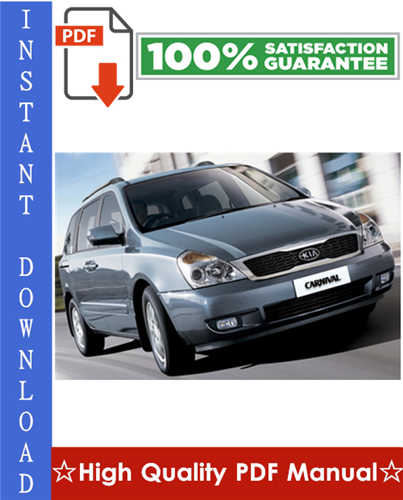 Kia Carnival    Sedona Workshop Service Repair Manual 2006