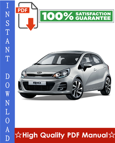 Pay for Kia Rio Workshop Service Repair Manual 2001-2005 Download