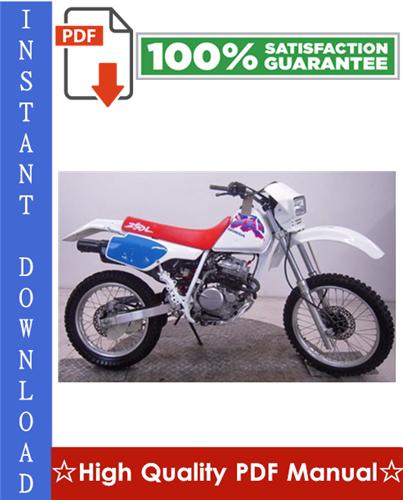Honda Xr250r Workshop Service Repair Manual 1996