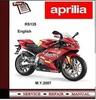 Thumbnail Aprilia RS125 2007 Workshop Service Repair Manual