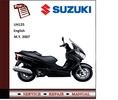 Thumbnail Suzuki UH125 Burgman 125 Workshop Service Manual