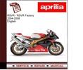 Thumbnail Aprilia RSVR - RSVR Factory 2004-2009 Workshop Manual