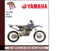 Thumbnail Yamaha YZ 250F 2012 Workshop Service Manual