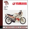 Thumbnail  Yamaha TZR 250 Workshop Service Manual