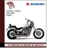 Thumbnail Suzuki VS750 / 800GL 1985-2002 Service Manual