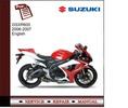 Thumbnail Suzuki GSXR600 2006-2007 Service Manual