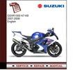 Thumbnail Suzuki gsx-r1000 2007-2008 Service Manual