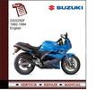 Thumbnail Suzuki GSX 250F 92-94 Service Manual