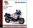 Thumbnail Suzuki GSX1100 - GS1150 1985-1986 Service Manual