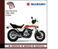 Thumbnail Suzuki GSX 750E/ES 84-86 Service Manual