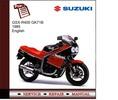 Thumbnail Suzuki GSX-R400 1985 GK71B Service Manual