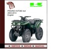 Thumbnail Kawasaki PRAIRIE KVF360 4x4 2003-2013 Service Manual