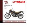 Thumbnail Yamaha xt660r/x(W) 2007 supplementary Service repair Manual