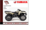 Thumbnail Yamaha yfm400fwa(M) 2000 workshop Service repair Manual