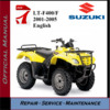 Thumbnail Suzuki LT-F400/F 2001-2005 Workshop Service Repair Manual