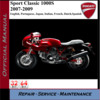 Thumbnail Ducati Sport Classic 1000S 07-09 Workshop Service Manual