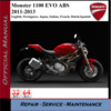 Thumbnail Ducati Monster 1100 EVO ABS 2011-13 Workshop Service Manual