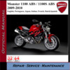 Thumbnail Ducati Monster 1100 ABS 2009-2010 Workshop Service Repair Ma