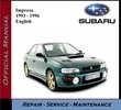 Thumbnail Subaru Impreza 1993 - 1996 Service Repair Manual