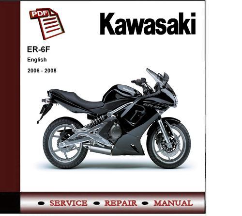 2006-2008 Kawasaki Er-6f Er6f Ninja Service Repair Manual