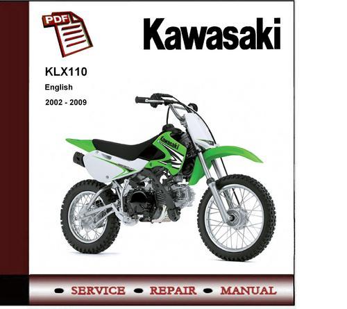 pay for 2002 - 2009 kawasaki klx110 service repair manual