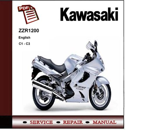 c1 - c3 kawasaki zzr1200 service repair manual