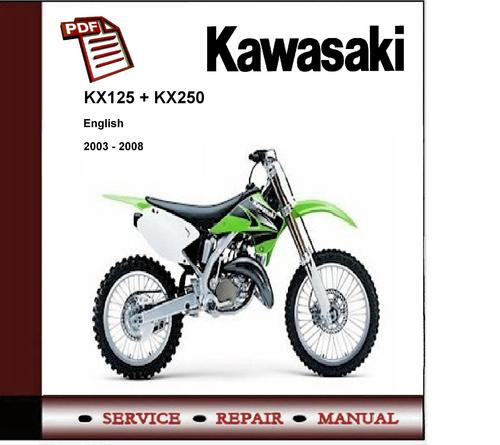 2003 2008 kawasaki kx125 kx250 service repair manual download rh tradebit com 2002 kawasaki kx250 service manual 2002 kawasaki kx250 service manual