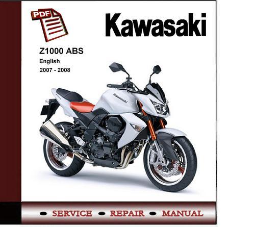 Wiring Diagram Kawasaki Z1000 : Kawasaki z abs service repair manual