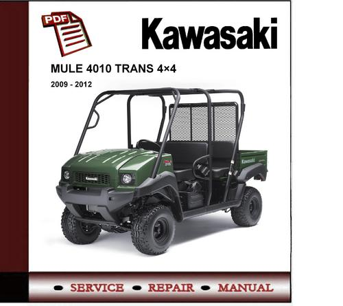 2009 2012 kawasaki mule 4010 diesel workshop repair. Black Bedroom Furniture Sets. Home Design Ideas