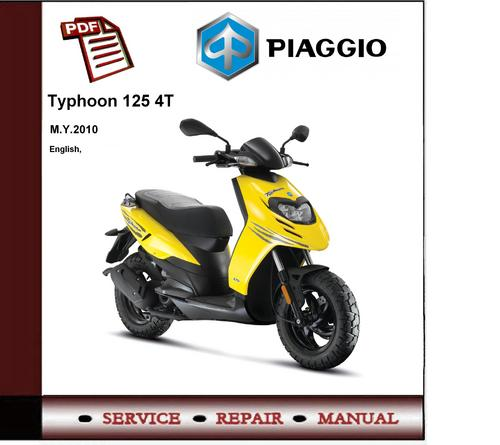 Piaggio Typhoon 125 4t 2010 - 2012 Workshop Service Manual