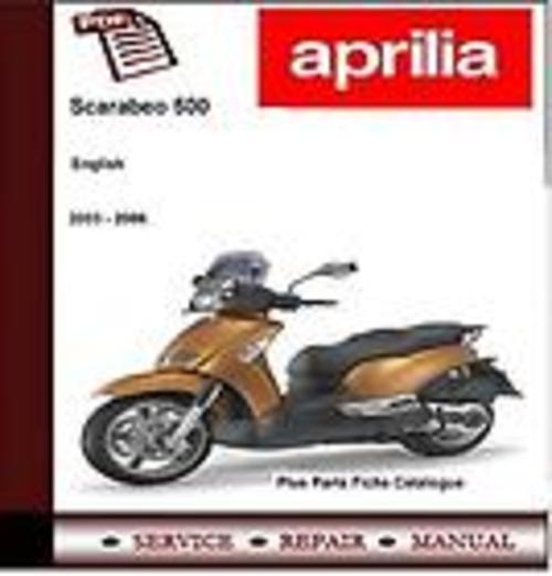 Free Aprilia Scarabeo 500 2003 - 2006 Workshop Service Manual Download thumbnail