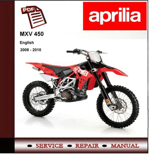 Free Aprilia MXV 450 MXV4.5 2008 - 2010 Workshop Service Manual Download thumbnail
