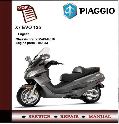 piaggio x9 evo 125 euro 3 workshop service repair manual - download