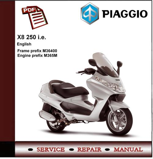 manual piaggio x8 250 ie